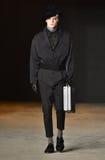 A model walks the runway wearing Robert Geller Royalty Free Stock Images