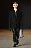 A model walks the runway wearing Robert Geller Royalty Free Stock Photography