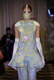 A model walks the runway wearing Victor De Souza Spring 2017 Royalty Free Stock Photos
