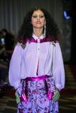A model walks the runway wearing Victor De Souza Spring 2017 Stock Images