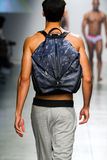 A model walks the runway during 2(X)IST Men's Spring/Summer 2016 Runway Show Royalty Free Stock Images