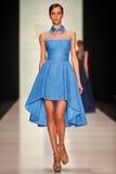 A model walks on the Tony Ward catwalk Stock Photography