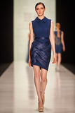 A model walks on the Tony Ward catwalk Stock Images