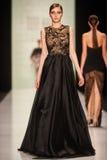 A model walks on the Tony Ward catwalk Royalty Free Stock Photo