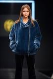 A model walks on the VALENTIN YUDASHKIN catwalk Royalty Free Stock Photography