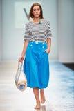 A model walks on the VICTORIA ANDREYANOVA catwalk Stock Image