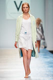 A model walks on the VICTORIA ANDREYANOVA catwalk Stock Images