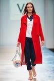 A model walks on the VICTORIA ANDREYANOVA catwalk Stock Photography