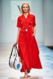 A model walks on the VICTORIA ANDREYANOVA catwalk Stock Photo