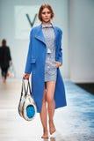 A model walks on the VICTORIA ANDREYANOVA catwalk Royalty Free Stock Image