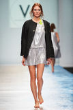 A model walks on the VICTORIA ANDREYANOVA catwalk Royalty Free Stock Photo