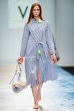 A model walks on the VICTORIA ANDREYANOVA catwalk Royalty Free Stock Images