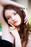 Model wearing bracelet Stock Image