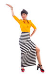 Model wearing fashionable clothing Royalty Free Stock Photos