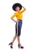 Model wearing fashionable clothing. On white Stock Photography