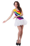 Model wearing fashionable clothing. On white Stock Images