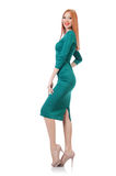 Model wearing fashionable clothing. On white Royalty Free Stock Images