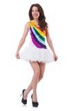 Model wearing fashionable clothing. On white Royalty Free Stock Image