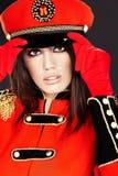 Model wearing glamour uniform Royalty Free Stock Photos