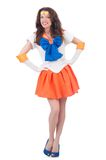Model wearing sailor moon suit isolated on the Stock Photo