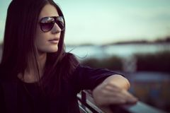 Model wearing sunglasses Stock Photos