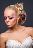 Model in a wedding dressd Stock Photos