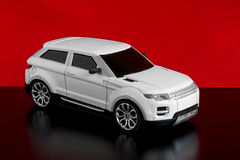 Model of the white car Royalty Free Stock Photography