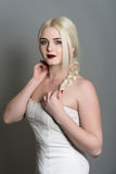 Model in the white dress Stock Photography