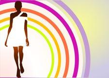 model white för klänning Arkivfoton
