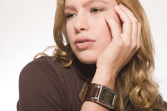 Model With A Watch Royalty Free Stock Photo