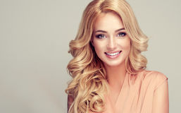 Free Model With Long, Dense, Hairstyle And White Toothy Smile. Royalty Free Stock Photography - 94305197