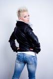 Model woman turn back royalty free stock photos