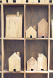 Model of wooden block house Stock Image