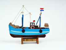 Model of a wooden boat Stock Image