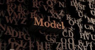 Model - Wooden 3D rendered letters/message Royalty Free Stock Photo