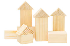 Model of the wooden house Stock Photo