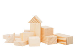Model of the wooden house on white background Stock Image