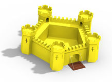 Model of yellow castle Stock Image