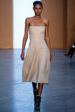 Model Ysaunny Brito walk the runway at the Derek Lam Fashion Show during MBFW Fall 2015 Stock Photography
