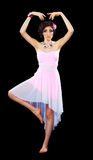 Model z Barbie makijażem Zdjęcia Stock