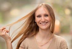 Model z długie włosy; haircare pojęcie Obrazy Royalty Free