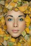 Model z kreatywnie makeup fotografia stock