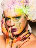 Model z kreatywnie makeup Zdjęcia Royalty Free