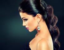 Model z modnym makeup Zdjęcie Royalty Free
