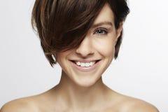 Model z modnym włosy Fotografia Royalty Free