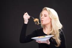 Model z spagetti Zdjęcia Stock