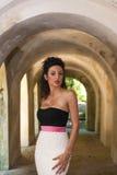 Model z wieczór suknią obraz royalty free