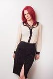 Model z Żywym Czerwonym włosy Fotografia Stock