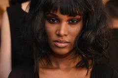 Modela pozować zakulisowy dla Georgine kolekci Zdjęcie Royalty Free
