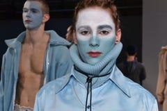 Modela pozy przy Cygańską sport prezentacją podczas Nowy Jork mody tygodnia mężczyzna spadku, zimy/2016 Zdjęcie Royalty Free